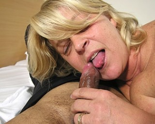 This big mama loves the black cock